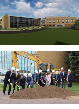 Henry Science Center artist rendition and groundbreaking ceremony