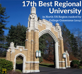 17th Best Regional University in the North US Region ranked by College Consenus (2019)